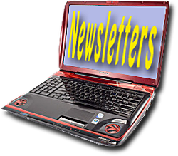 Laptop Displaying Newsletter