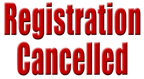 Registration Cancelled